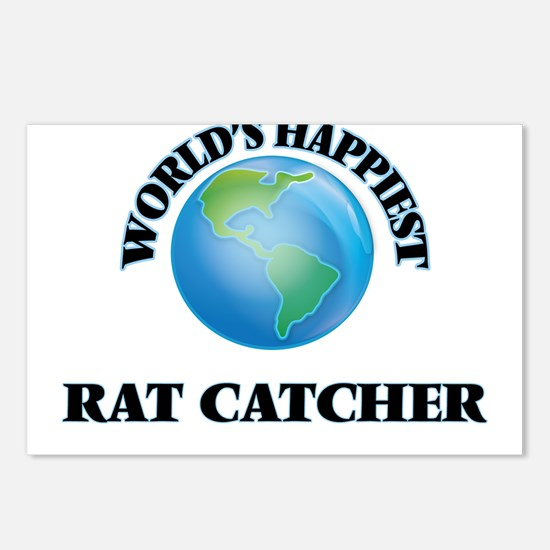 World's Happiest Rat Catc Postcards (Package of 8)