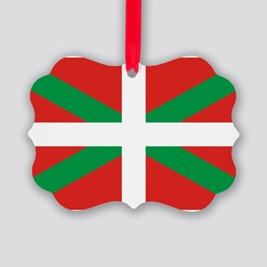 The Ikurriña, Basque flag Picture Ornament
