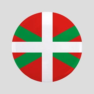 """The Ikurriña, Basque flag 3.5"""" Button"""