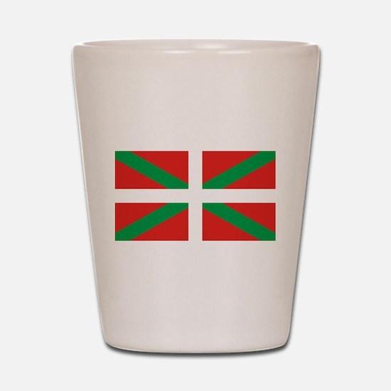 The Ikurriña, Basque flag Shot Glass