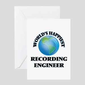 World's Happiest Recording Engineer Greeting Cards