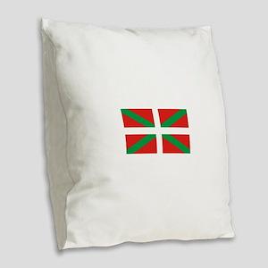 The Ikurriña, Basque flag Burlap Throw Pillow