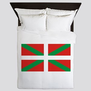 The Ikurriña, Basque flag Queen Duvet