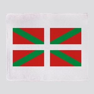 The Ikurriña, Basque flag Throw Blanket