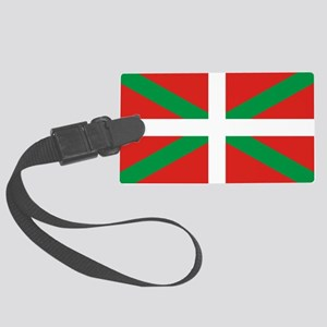 The Ikurriña, Basque flag Large Luggage Tag