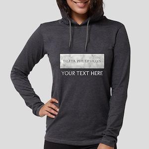 Delta Phi Epsilon Marble Perso Womens Hooded Shirt