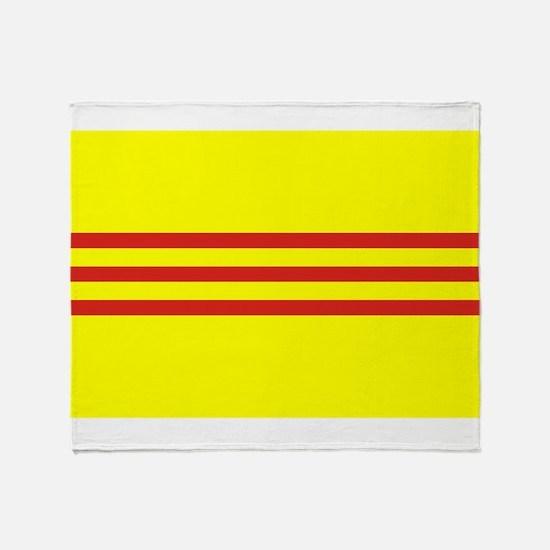 South Vietnam flag Throw Blanket