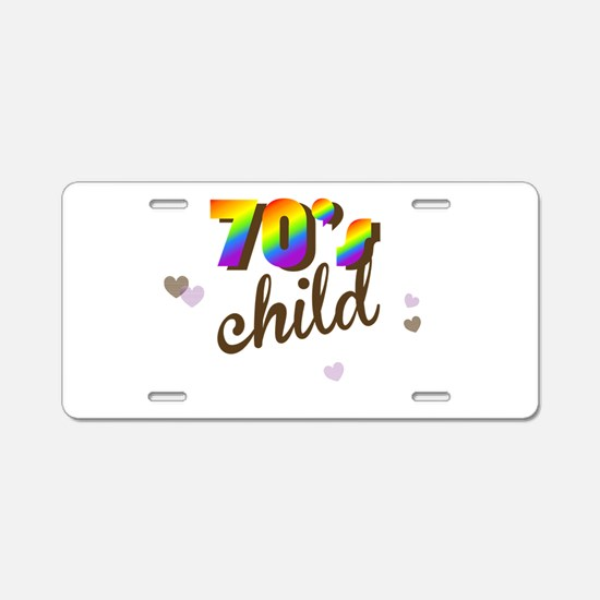 70s Child Aluminum License Plate