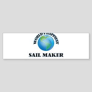 World's Happiest Sail Maker Bumper Sticker