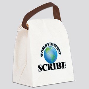 World's Happiest Scribe Canvas Lunch Bag