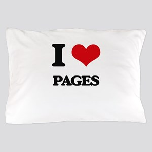 I Love Pages Pillow Case