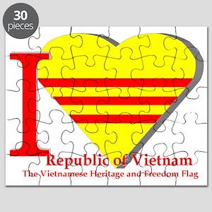 I Love The Republic Of South Vietnam Puzzle