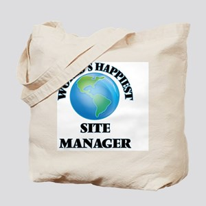 World's Happiest Site Manager Tote Bag