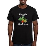 Veggie Goddess Men's Fitted T-Shirt (dark)