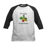 Veggie Goddess Kids Baseball Jersey
