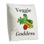 Veggie Goddess Burlap Throw Pillow