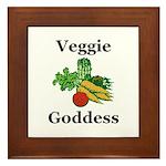 Veggie Goddess Framed Tile