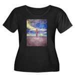Christian Cross Landscape Plus Size T-Shirt