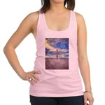 Christian Cross Landscape Racerback Tank Top