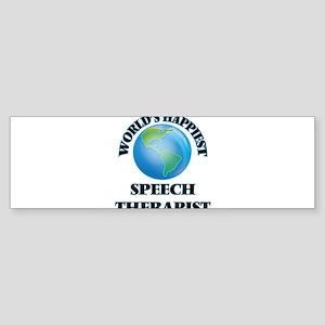 World's Happiest Speech Therapist Bumper Sticker
