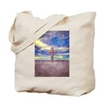 Christian Cross Landscape Tote Bag