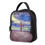 Christian Cross Landscape Neoprene Lunch Bag