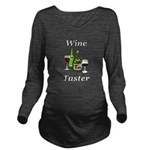 Wine Taster Long Sleeve Maternity T-Shirt
