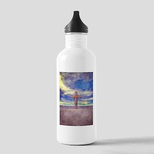 Christian Cross Landscape Water Bottle