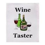 Wine Taster Throw Blanket