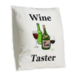Wine Taster Burlap Throw Pillow