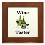 Wine Taster Framed Tile