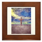 Christian Cross Landscape Framed Tile