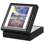 Christian Cross Landscape Keepsake Box