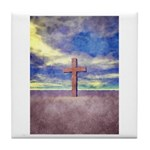 Christian Cross Landscape Tile Coaster
