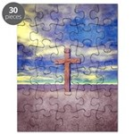 Christian Cross Landscape Puzzle