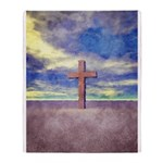 Christian Cross Landscape Throw Blanket