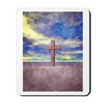 Christian Cross Landscape Mousepad