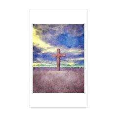 Christian Cross Landscape Decal