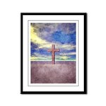 Christian Cross Landscape Framed Panel Print
