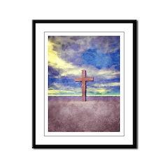 Christian Cross Landscape Framed Panel Print