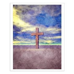 Christian Cross Landscape Posters