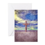 Christian Cross Landscape Greeting Cards