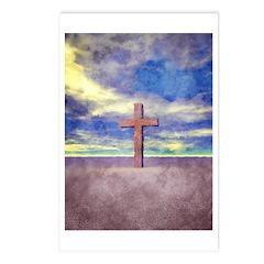 Christian Cross Landscape Postcards (Package of 8)