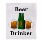 Beer Drinker Throw Blanket