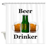 Beer Drinker Shower Curtain
