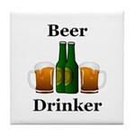 Beer Drinker Tile Coaster