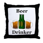 Beer Drinker Throw Pillow