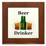 Beer Drinker Framed Tile