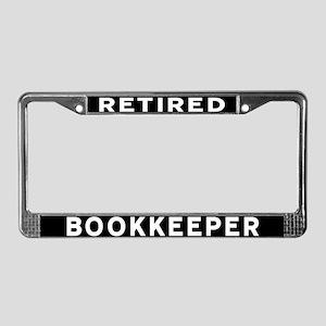 Bookkeeper License Plate Frame