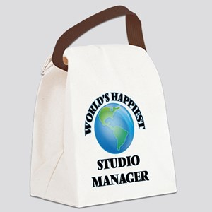 World's Happiest Studio Manager Canvas Lunch Bag